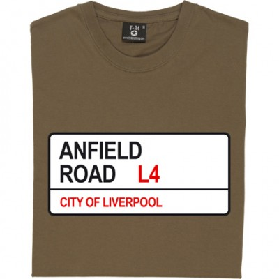 Liverpool: Anfield Road L4 Road Sign