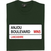 Wigan Athletic: Anjou Boulevard WN5 Road Sign T-Shirt