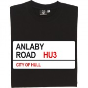 Hull City: Anlaby Road HU3 Road Sign T-Shirt