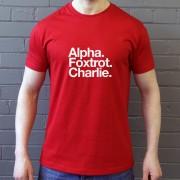 Alpha Foxtrot Charlie T-Shirt