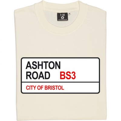 Bristol City: Ashton Road BS3 Road Sign