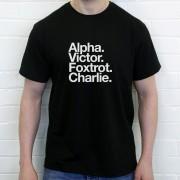 Aston Villa FC: Alpha Victor Foxtrot Charlie T-Shirt