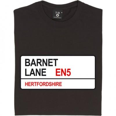 Barnet FC: Barnet Lane EN5 Road Sign