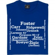 Birmingham City 2011 League Cup Final Line-Up T-Shirt