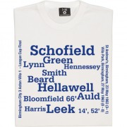 Birmingham City 1963 League Cup Final Line Up T-Shirt