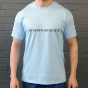 West Ham United: Boleyn Ground Coordinates T-Shirt