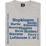 Bolton Wanderers 1958 FA Cup Final Line Up T-Shirt