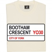 York City: Bootham Crescent YO30 Road Sign T-Shirt