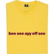 """Bradford City """"Bee See Ayy Eff See"""" T-Shirt"""
