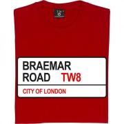 Brentford FC: Braemar Road TW8 Road Sign T-Shirt