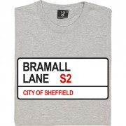 Sheffield United: Bramall Lane S2 Road Sign T-Shirt
