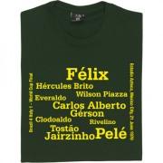 Brazil 1970 World Cup Final Line-Up T-Shirt
