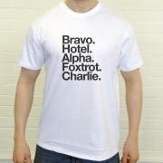 Brighton and Hove Albion FC: Bravo Hotel Alpha Foxtrot Charlie T-Shirt