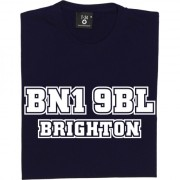 Brighton and Hove Albion Falmer Stadium Postcode T-Shirt