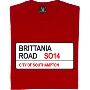 Southampton FC: Brittania Road SO14 Road Sign T-Shirt