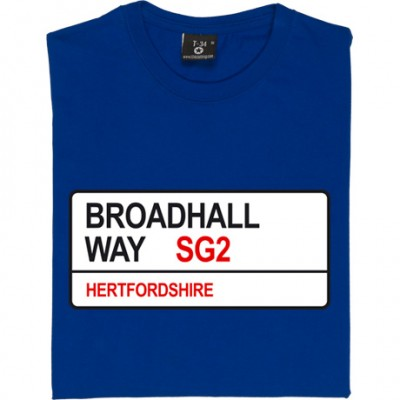 Stevenage FC: Broadhall Way SG2 Road Sign