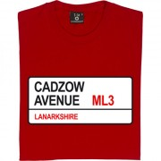 Hamilton Academical: Cadzow Avenue ML3 Road Sign T-Shirt