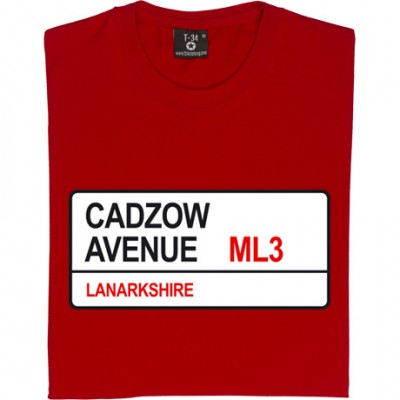 Hamilton Academical: Cadzow Avenue ML3 Road Sign