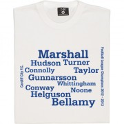 Cardiff City 2013 League Champions Line-Up T-Shirt