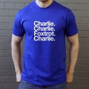 Cardiff City FC: Charlie Charlie Foxtrot Charlie T-Shirt