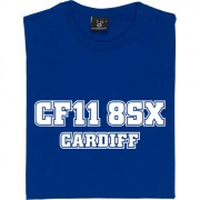 Cardiff City (Ninian Park) Postcode T-Shirt