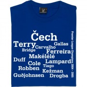 Chelsea 2005 Championship Winning Team Line Up T-Shirt
