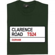Hartelepool United: Clarence Road TS24 Road Sign T-Shirt