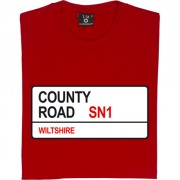 Swindon Town: County Road SN1 Road Sign T-Shirt
