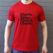 Crawley Town FC: Charlie Tango Foxtrot Charlie T-Shirt