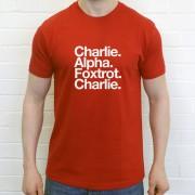 Crewe Alexandra FC: Charlie Alpha Foxtrot Charlie T-Shirt
