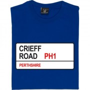 St. Johnstone: Crieff Road PH1 Road Sign T-Shirt