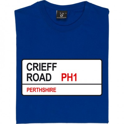 St. Johnstone: Crieff Road PH1 Road Sign