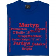 Crystal Palace 1990 FA Cup Final (3-3) Line-Up T-Shirt