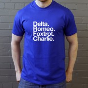 Dagenham and Redbridge FC: Delta Romeo Foxtrot Charlie T-Shirt
