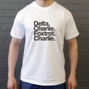 Derby County FC: Delta Charlie Foxtrot Charlie T-Shirt