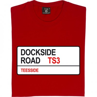 Middlesbrough FC: Dockside Road TS3 Road Sign
