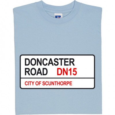Scunthorpe United: Doncaster Road DN15 Road Sign