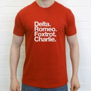 Doncaster Rovers FC: Delta Romeo Foxtrot Charlie T-Shirt