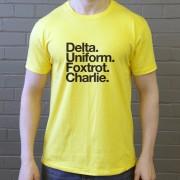 Dundee United FC: Delta Uniform Foxtrot Charlie T-Shirt