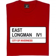Inverness Caledonian Thistle: East Longman IV1 Road Sign T-Shirt