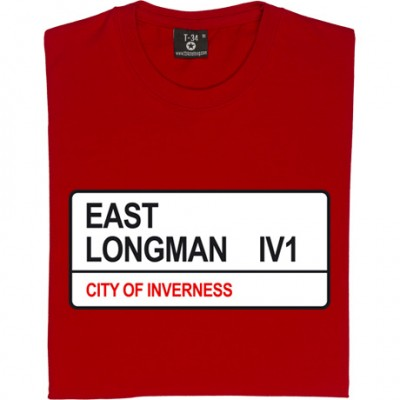 Inverness Caledonian Thistle: East Longman IV1 Road Sign