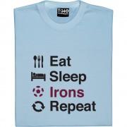 Eat Sleep Irons Repeat T-Shirt
