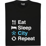 Eat Sleep Man City Repeat T-Shirt
