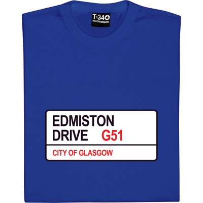 Rangers FC: Edmison Drive G51 Road Sign