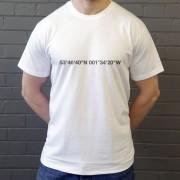 Leeds United: Elland Road Coordinates T-Shirt