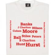 England 1966 World Cup Final Line-Up T-Shirt