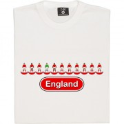 England Table Football (Red Away Kit) T-Shirt