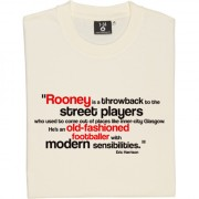 "Wayne Rooney ""Old Fashioned Footballer"" Quote T-Shirt"