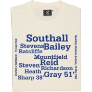Everton 1984 FA Cup Final Line Up T-Shirt