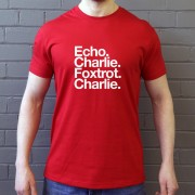 Exeter City FC: Echo Charlie Foxtrot Charlie T-Shirt